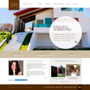 Site Fujita Arquitetura e Decoração - Página Inicial