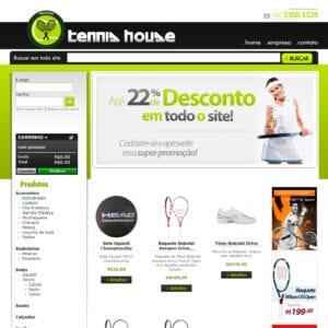 Tennis House - Página Inicial