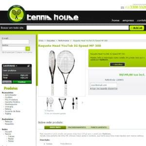 Tennis House - Detalhe de produtos