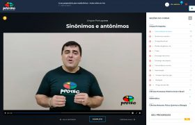 Print de uma Aula virtual do site Apotec Vestibulinhos SJC