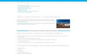 Página do vestibulinho Colégio Embraer no site Apotec Vestibulinhos SJC