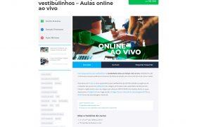 Print da página de Curso do site Apotec Vestibulinhos SJC