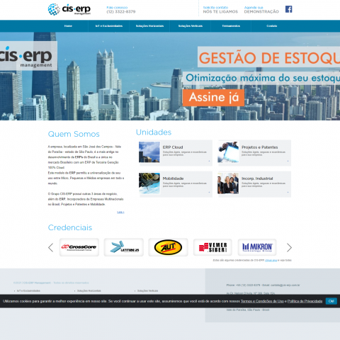 Home do site CIS-ERP